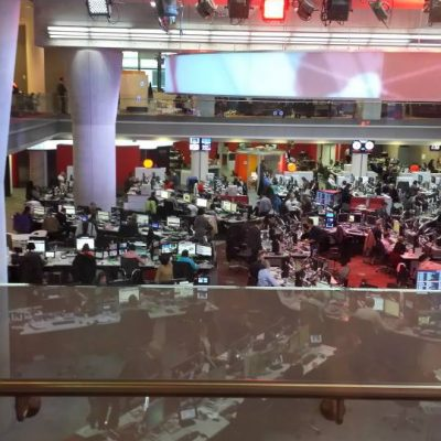 BBC News floor. Photo credit © L Rowe 2016