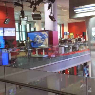 The Weather at BBC Broadcasting House. Photo credit © L Rowe 2016