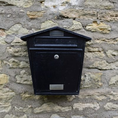 Mailbox. Photo credit © L Rowe 2016